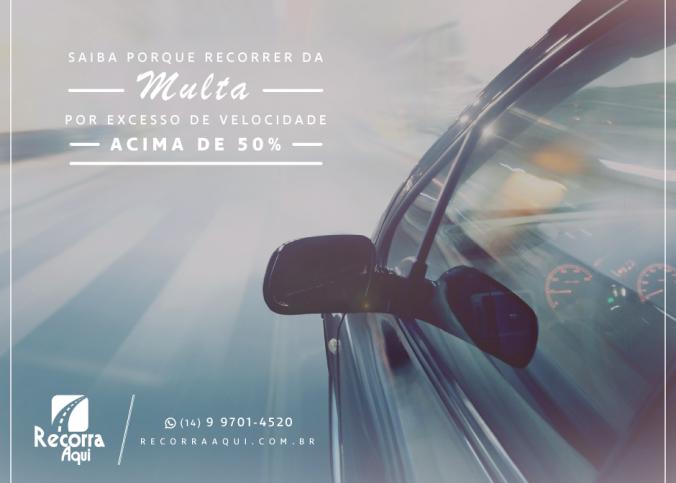 Importante - Porque recorrer da multa por excesso de velocidade acima 50%? - Recorra Aqui - Multas e CNH - Importante