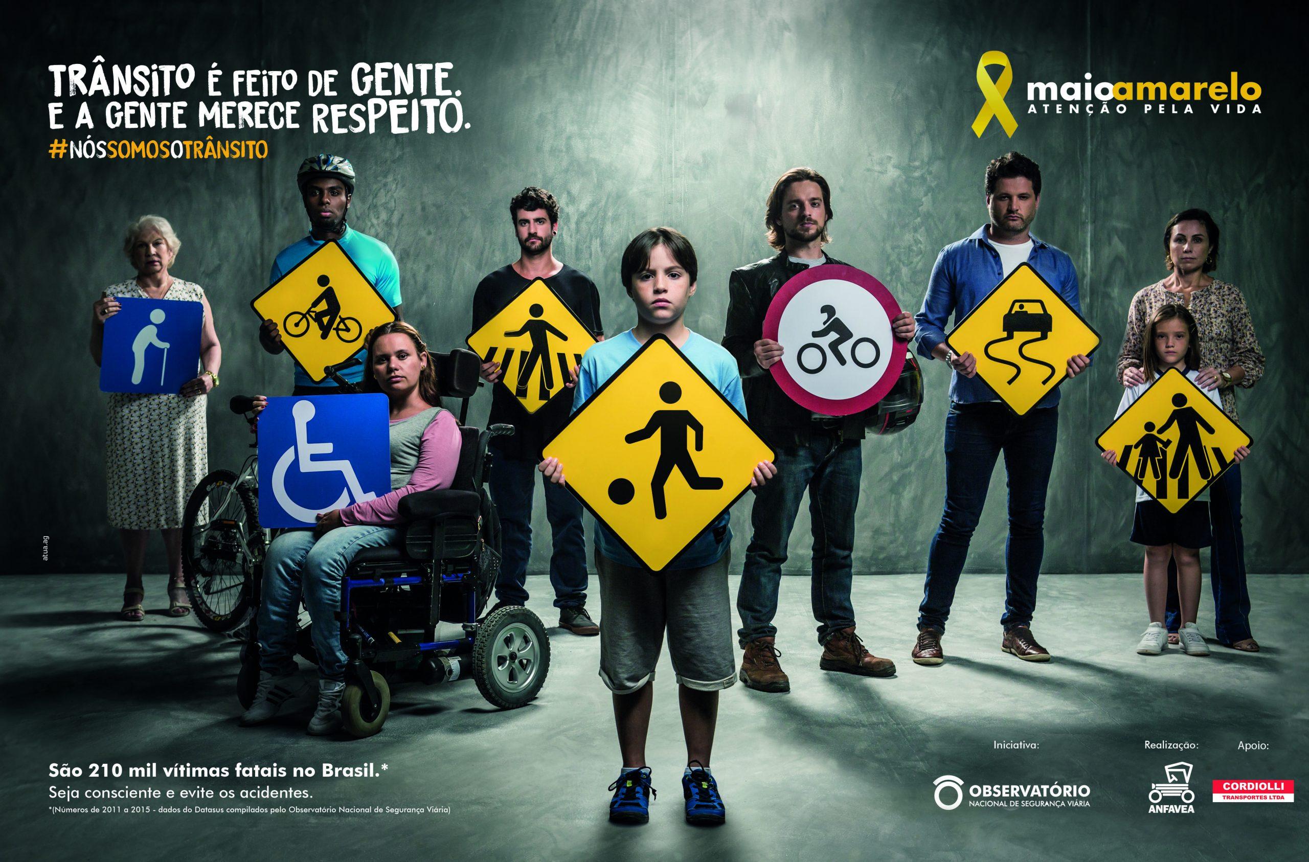 Maio Amarelo: no trânsito, respeito e responsabilidade são necessários